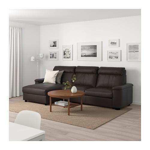 LIDHULT - 3-seat sofa-bed, with chaise longue/Grann/Bomstad dark brown | IKEA Hong Kong and Macau - PE689477_S4