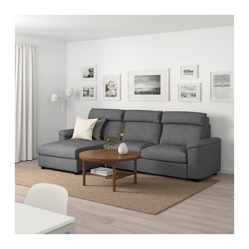 LIDHULT - 3-seat sofa-bed, with chaise longue/Lejde grey/black | IKEA Hong Kong and Macau - PE689494_S4
