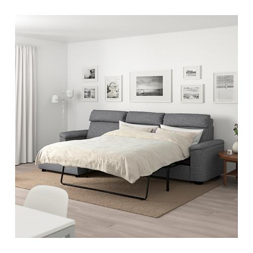 LIDHULT - 3-seat sofa-bed, with chaise longue/Lejde grey/black | IKEA Hong Kong and Macau - PE689496_S4