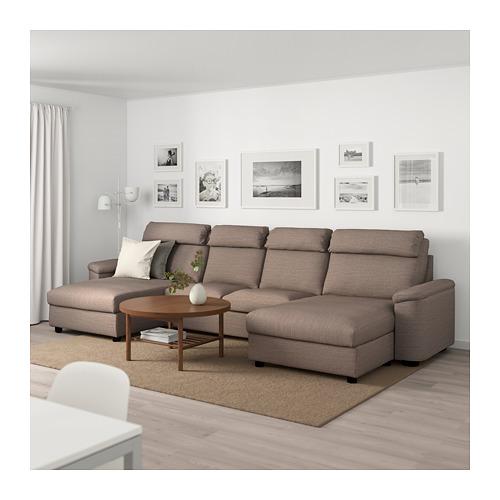 LIDHULT - 4-seat sofa, with chaise longues/Lejde beige/brown | IKEA Hong Kong and Macau - PE689545_S4