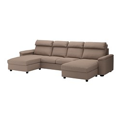 LIDHULT - 4-seat sofa, with chaise longues/Lejde beige/brown | IKEA Hong Kong and Macau - PE689544_S3