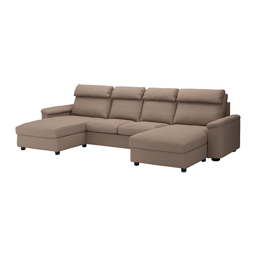 LIDHULT - 4-seat sofa, with chaise longues/Lejde beige/brown | IKEA Hong Kong and Macau - PE689544_S4