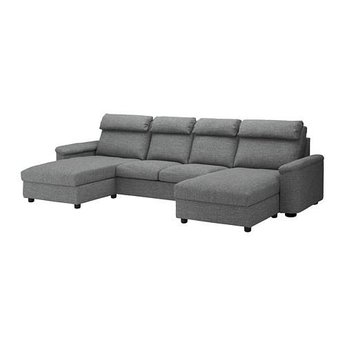 LIDHULT - 四座位梳化, 連躺椅/Lejde 灰色/黑色 | IKEA 香港及澳門 - PE689546_S4