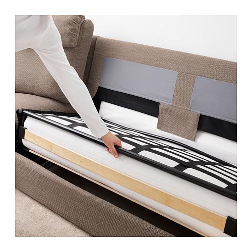 LIDHULT - corner sofa-bed, 5-seat, Lejde beige/brown | IKEA Hong Kong and Macau - PE689595_S4