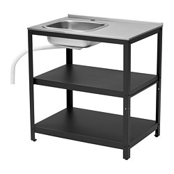 GRILLSKÄR - 星盆, 黑色/不銹鋼 戶外 | IKEA 香港及澳門 - PE774985_S3