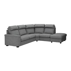 LIDHULT - 五座位角位梳化, 開放式/Lejde 灰色/黑色 | IKEA 香港及澳門 - PE689618_S3