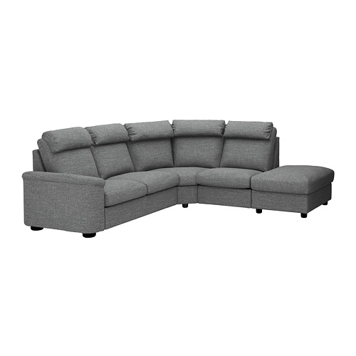 LIDHULT - corner sofa, 5-seat, with open end/Lejde grey/black | IKEA Hong Kong and Macau - PE689618_S4