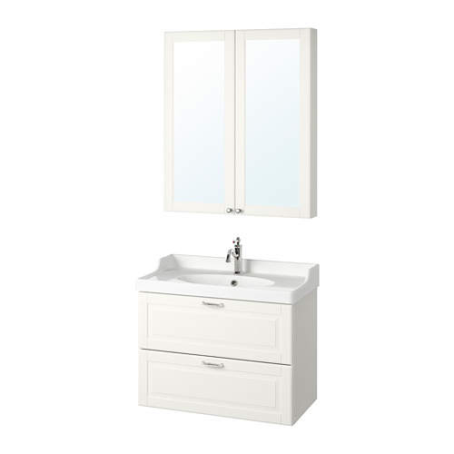 GODMORGON/RÄTTVIKEN - bathroom furniture, set of 4, Kasjön white/Hamnskär tap | IKEA Hong Kong and Macau - PE786966_S4