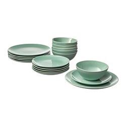 FÄRGRIK - 餐具,18件套裝, 淺綠色 | IKEA 香港及澳門 - PE732588_S3