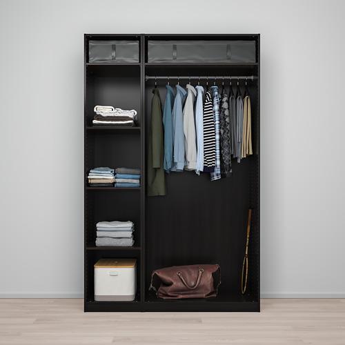 PAX/FORSAND/VIKEDAL - wardrobe combination, black-brown/mirror glass | IKEA Hong Kong and Macau - PE775031_S4