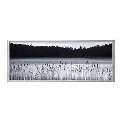 BJÖRKSTA - picture with frame, Woodland lake/aluminium-colour | IKEA Hong Kong and Macau - PE787021_S3