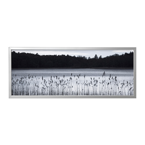 BJÖRKSTA - picture with frame, Woodland lake/aluminium-colour | IKEA Hong Kong and Macau - PE787021_S4