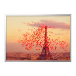 BJÖRKSTA - picture with frame, Eiffel tower/aluminium-colour | IKEA Hong Kong and Macau - PE787027_S3