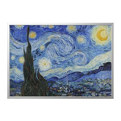 BJÖRKSTA - picture with frame, Starry Night/aluminium-colour | IKEA Hong Kong and Macau - PE787061_S3