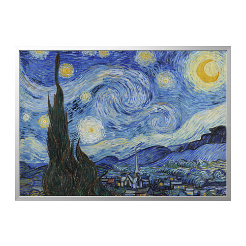 BJÖRKSTA - picture with frame, Starry Night/aluminium-colour | IKEA Hong Kong and Macau - PE787061_S4