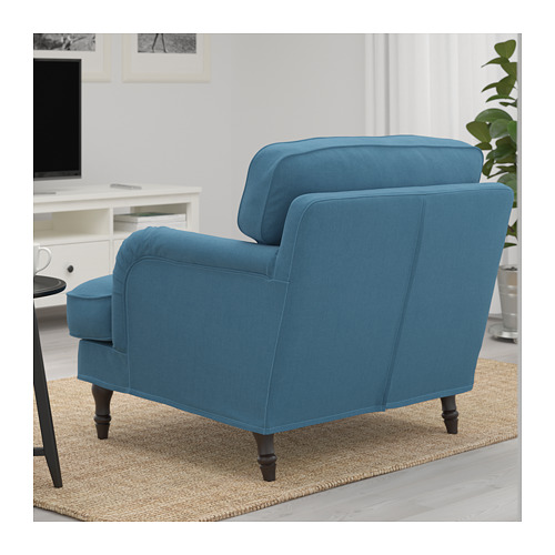 STOCKSUND - armchair, Ljungen blue/black/wood | IKEA Hong Kong and Macau - PE689676_S4