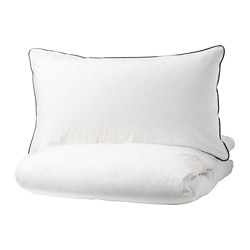 KUNGSBLOMMA - quilt cover and 2 pillowcases, white/grey, 200x200/50x80 cm  | IKEA Hong Kong and Macau - PE732614_S3