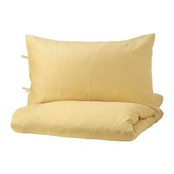 PUDERVIVA - 被套枕袋套裝, 淺黃色, 150x200/50x80 cm  | IKEA 香港及澳門 - PE732654_S3