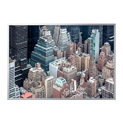 BJÖRKSTA - picture with frame, New York from above/aluminium-colour | IKEA Hong Kong and Macau - PE787071_S3