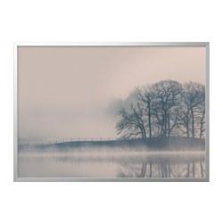 BJÖRKSTA - picture with frame, Misty landscape/aluminium-colour | IKEA Hong Kong and Macau - PE787074_S3
