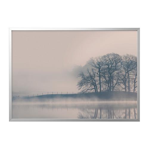 BJÖRKSTA - picture with frame, Misty landscape/aluminium-colour   IKEA Hong Kong and Macau - PE787074_S4