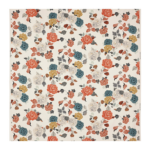 TROLLMAL - fabric, natural/flower patterned | IKEA Hong Kong and Macau - PE787079_S4