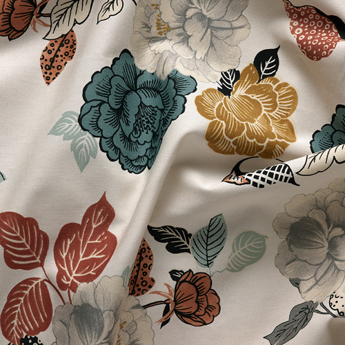 TROLLMAL - fabric, natural/flower patterned | IKEA Hong Kong and Macau - PE787078_S4
