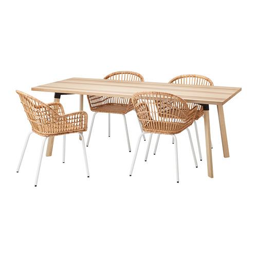 NILSOVE/YPPERLIG - table and 4 chairs, ash/rattan white | IKEA Hong Kong and Macau - PE732748_S4