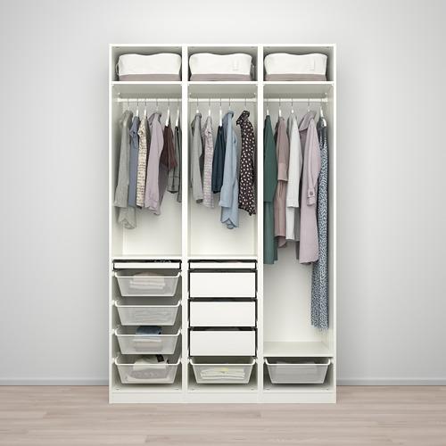 PAX/FARDAL - 衣櫃組合, white/high-gloss light grey | IKEA 香港及澳門 - PE775082_S4