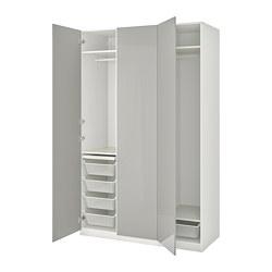 FARDAL/PAX - 衣櫃組合, white/high-gloss light grey | IKEA 香港及澳門 - PE775081_S3