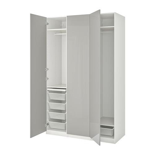 PAX/FARDAL - 衣櫃組合, white/high-gloss light grey | IKEA 香港及澳門 - PE775081_S4