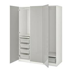 FARDAL/PAX - 衣櫃組合, white/high-gloss light grey | IKEA 香港及澳門 - PE775083_S3