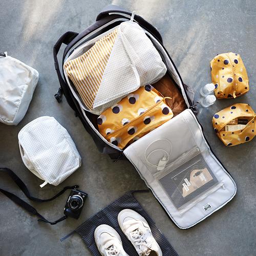 RENSARE - 衣物收納袋連間隔, 方格圖案/白色 | IKEA 香港及澳門 - PE775110_S4