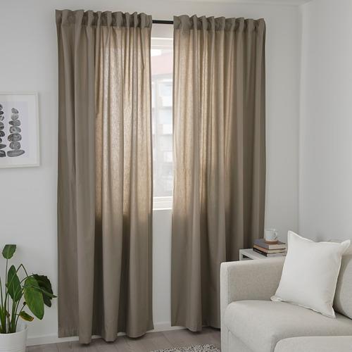 KALKFLY - 半遮光窗簾,一對, 深米黃色 | IKEA 香港及澳門 - PE732797_S4