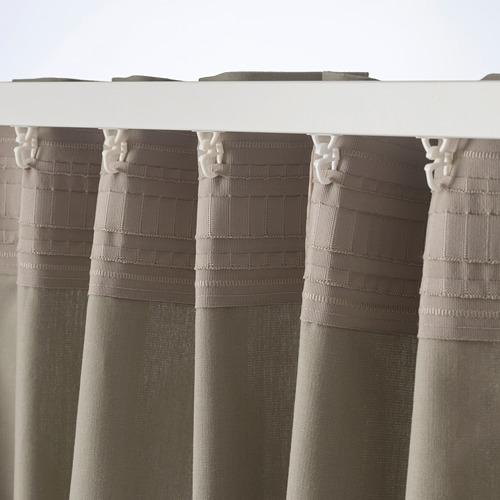 KALKFLY - 半遮光窗簾,一對, 深米黃色 | IKEA 香港及澳門 - PE732801_S4