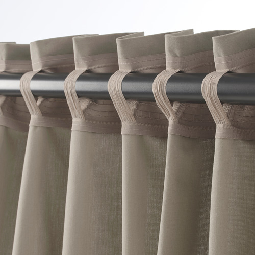KALKFLY - 半遮光窗簾,一對, 深米黃色 | IKEA 香港及澳門 - PE732800_S4