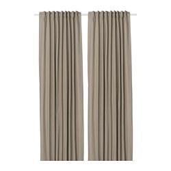 KALKFLY - 半遮光窗簾,一對, 深米黃色 | IKEA 香港及澳門 - PE732799_S3