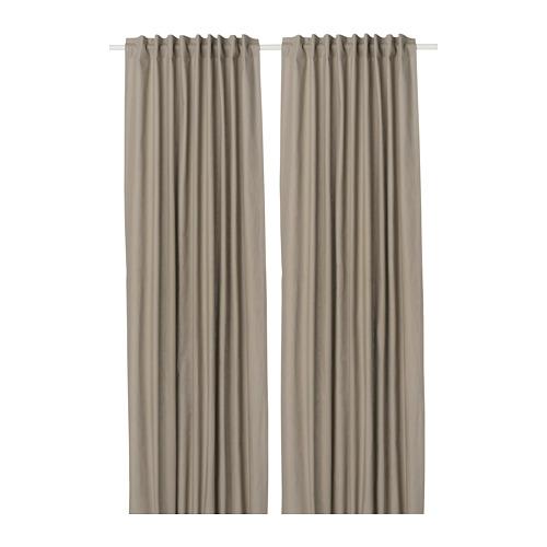 KALKFLY - 半遮光窗簾,一對, 深米黃色 | IKEA 香港及澳門 - PE732799_S4