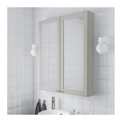 GODMORGON - mirror cabinet with 2 doors, Kasjön light grey | IKEA Hong Kong and Macau - PE689760_S4