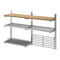KUNGSFORS - 導軌/層板/乾碟架/牆架, 不銹鋼/梣木 | IKEA 香港及澳門 - PE732863_S3