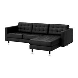 LANDSKRONA - 3-seat sofa, with chaise longue/Grann/Bomstad black/metal | IKEA Hong Kong and Macau - PE514808_S3