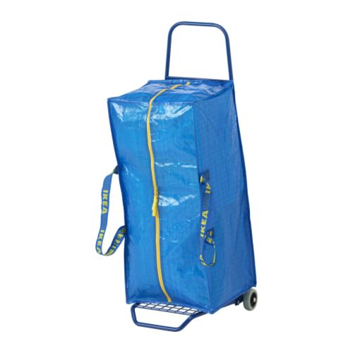 FRAKTA - 手拉車連購物袋, 藍色 | IKEA 香港及澳門 - PE233175_S4
