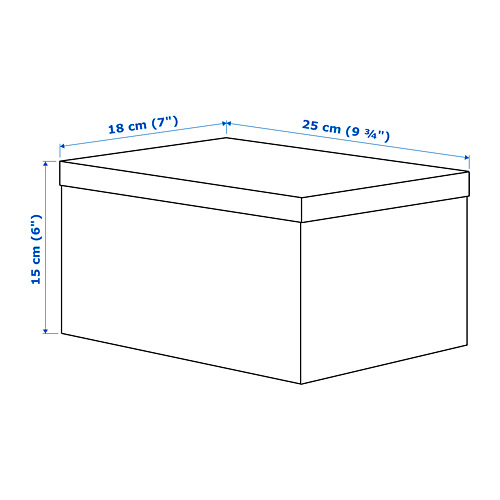 TJENA - storage box with lid, black | IKEA Hong Kong and Macau - PE689824_S4