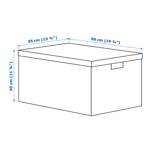 TJENA - storage box with lid, white | IKEA Hong Kong and Macau - PE690073_S4