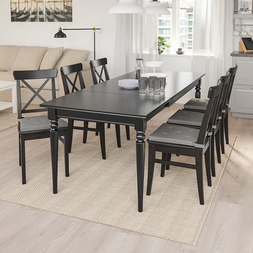 INGATORP/INGOLF table and 6 chairs