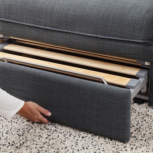 VALLENTUNA - 2-seat modular sofa with sofa-bed, and storage/Hillared dark grey | IKEA Hong Kong and Macau - PE692069_S4