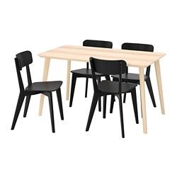LISABO/LISABO - 一檯四椅, 梣木飾面/黑色 | IKEA 香港及澳門 - PE787670_S3