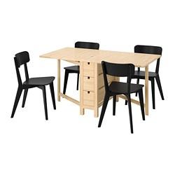 NORDEN/LISABO - 一檯四椅, 樺木/黑色 | IKEA 香港及澳門 - PE787675_S3