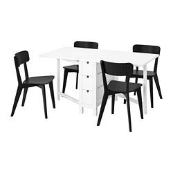 NORDEN/LISABO - 一檯四椅, 白色/黑色 | IKEA 香港及澳門 - PE787674_S3