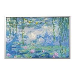 BJÖRKSTA - picture with frame, Water Lilies II/aluminium-colour | IKEA Hong Kong and Macau - PE787680_S3